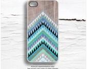 iPhone 6S Case, iPhone 6S Plus Case Wood Print, iPhone 5s Case Chevron, iPhone 6 Case, Teal Geometric iPhone Case Chevron iPhone 6 Case I200