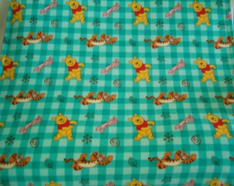Toddler/Baby Blanket Made with Winnie the Pooh Fleece - Ready to Ship
