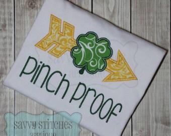 Arrow Clover Machine Embroidery Applique Design