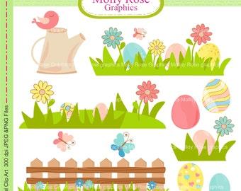 easter digital Clip Art,  M.89 easter border clip art, cute eggs clip art,invitation,Scrapbooking