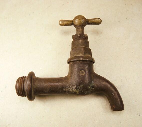 Vintage brass water faucet home decor antique