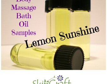 Natural Body Bath Oil - Lemon Sunshine - All Skin Types - 1 Dram Sample