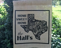 Personalized Garden Flag, Personalized Texas Garden Flag, Personalized Yard Flag, Personalized Flags