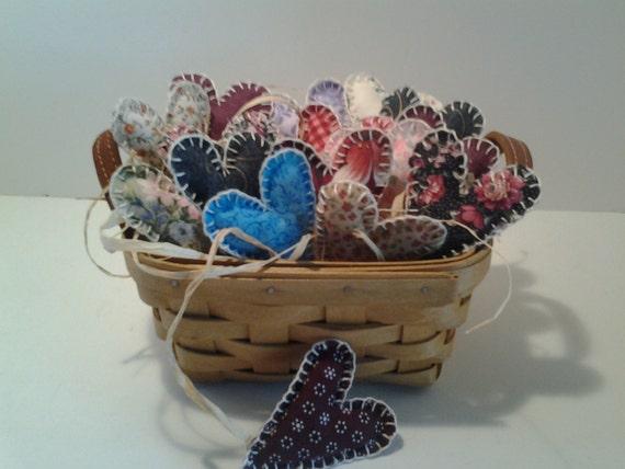 Handmade Longaberger Basket Liners : Longaberger tea basket handmade filled by
