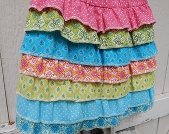 Matilda Jane Inspired Skirt Little Girls Ruffled Skirt Rainbow Skirt Back to School Skirt Summer Skirt Ready To Ship Skirt Birthday Skirt