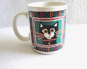 Vintage Papel Tuxedo Cat Coffee Mug