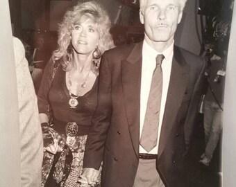 1990 Original Photo - Jane Fonda & Ted Turner in Las Vegas