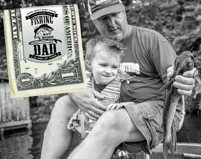 Fishing Dad | Fathers Day Gift | Dad Gift | Gift for Dad | Dad Gifts | Husband Gift | Custom Money Clip | Money Clip Korena Loves