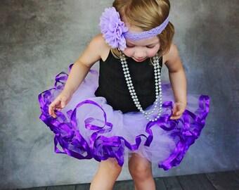 Purple, Satin ribbon trimmed Petti tutu.