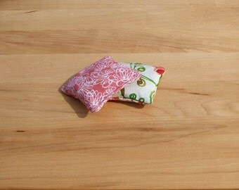 Hot Cold pack set of 2 - handwarmer - bruise relief - reusable microwavable rice bag - pocket warmer - boo boo bag - rice pack - pink flower