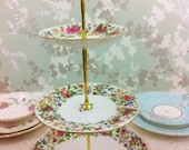 Chintz 1930s 3 Tier cake Stand, Crown Staffordshire