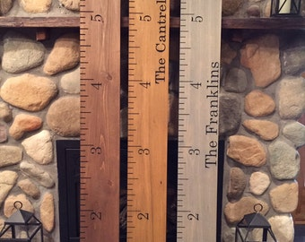 Engraved Wood Ruler Growth Chart