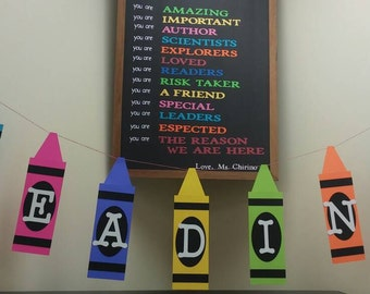 Crayola Birthday Party Classroom Decoration 3D Paper Banner