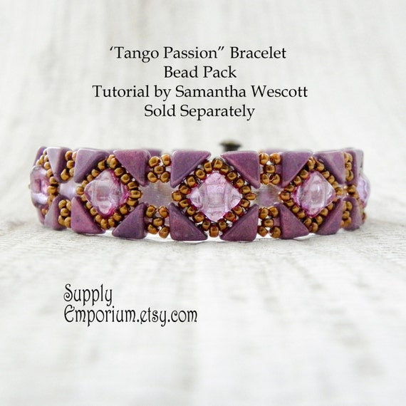 "Bead Pack for ""Tango Passion"" Bracelet From Samantha Wescott - Tutorial Available Separately - Colorway by Claire"