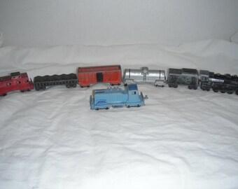 60s die-cast 7-piece train set