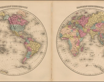 Old world maps, Ancient, Map poster, Wall world map, World maps, Ancient maps, Map of the world, Atlas, Prints, World map print, 274