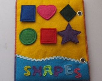 Quet Book-Activity Book-Busy Book-Felt book-Shapes Page