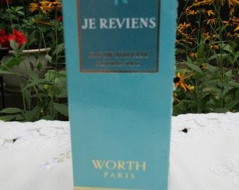 JE Reviens Eau De Toilette Natural Spray Worth Paris Sealed Vintage 1.7 fl oz.
