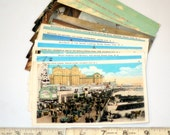 11 vintage NEW JERSEY SHORE postcards - unused lot - linen, white border, chrome 3 1/2 x 5 1/2 - Atlantic City and Ocean City