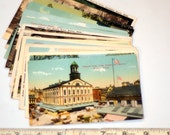 15 vintage MASSACHUSETTS postcards - unused lot - linen, white border, chrome 3 1/2 x 5 1/2
