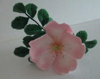 rose shrub rose sugar rose cake topper cupcake topper edible gum paste rosa rugosa