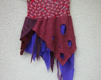 festival fringe skirt, fairy, pixie, tribal, festival clothing,extra small, elastic waist