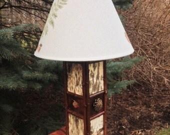 White Birch Table Lamp
