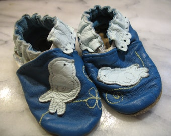 Small baby Robeez leather moccasin.