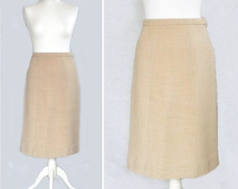 Jaeger A-Line Ivory Skirt, Eighties 80's, Smart and Formal, Made in Great Britain, Gift For Her