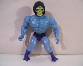 Vintage MOTU He Man Skeletor Action Figure, Masters of the Universe, Mattel 1981