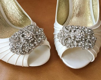 Rhinestone Shoe Clips - Set of 2 - BEST SELLER