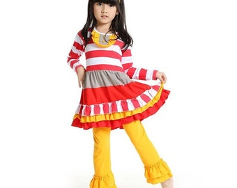 Stripe ruffle outfit