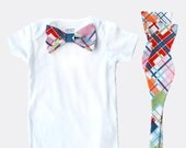 Father Son Matching Bow Tie Sets - Madras Plaid - Father's Day