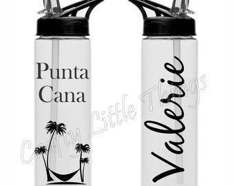 Personalized Beach Water Bottle sports bottle Beach bottle Vacation water bottle Wedding party BPA Free