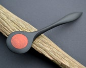 Handcarved wooden Hairstick, sculptured from Ebony and Red Heart wood