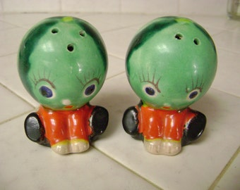 Anthropomorphic * Vintage collectible Watermelon Salt and Pepper Shakers