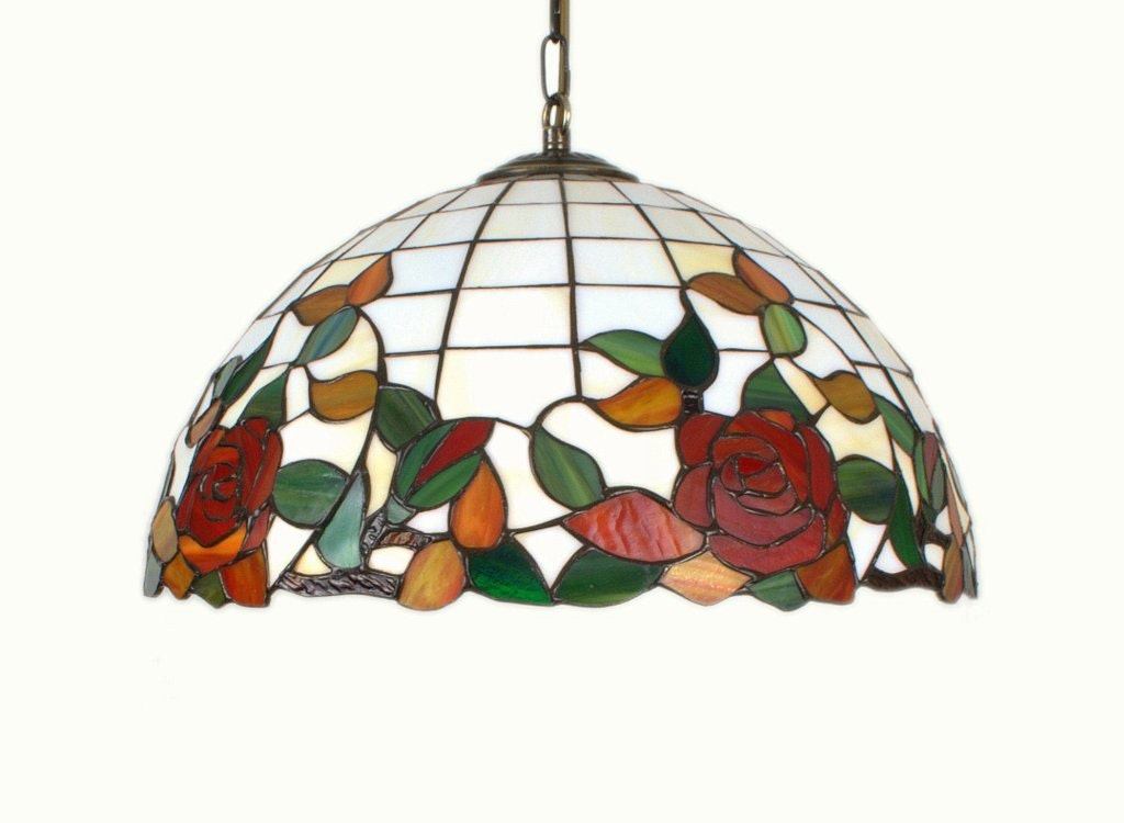 16 5 stained glass lamp tiffany style hanging by. Black Bedroom Furniture Sets. Home Design Ideas
