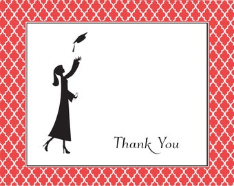 Grad Girl Graduation Thank You Notes