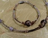 Beaded Necklace, Bracelet and Earring  Jewelry Set