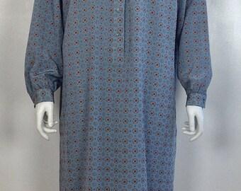 ON SALE 1980s shirtdress / vintage shirtdress / slouchy dress / slouchy vintage / 80s shirtdress / Schrader Sport dress / 80s secretary dres