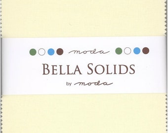 Bella Solids Neutral Charm Pack, Set of 42 5-inch Precut Cotton Fabric Squares (9900PP-21)