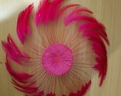 MAGENTA / Pin Wheel Hackle Feathers