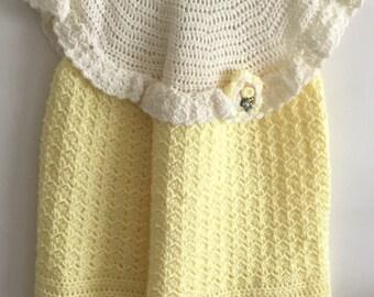 Little girls hand crochet dress size 4/5.