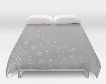 Light Grey Duvet Cover, light gray duvet, grey duvet cover, gray duvet cover, grey bed cover, gray bed cover, light grey duvet