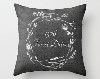 Custom Address Throw Pillow, address pillow, personalized pillow, custom throw pillow, custom address pillow, housewarming gift