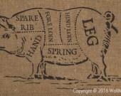 Pig Chart Stencil