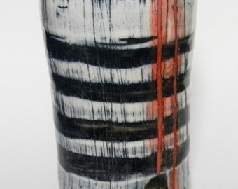 Black and Red Striped Tumbler