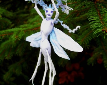 "Winter Wood Sprite Fairy ""Vestia"" - Hand Sculpted Figurine - OOAK - BEAUTIFUL!!"