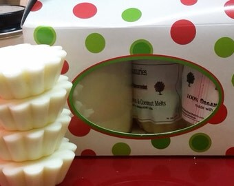 100% Soy Candle & Tarts Gift Set Pick your Christmas Scent