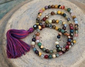 Beautiful gemstone mala necklace